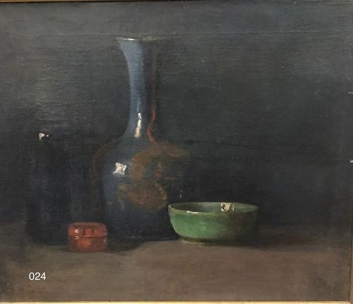 Son of Frank Loyd Wright Artist  �Chinese Still Life Oil on canvas