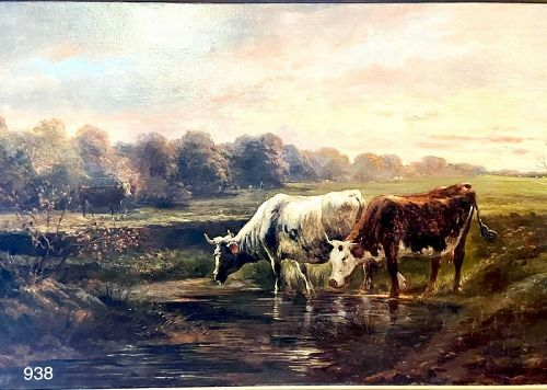 English Artist Gibbon,Pastoral Scene c.1820 Oil School of Constable