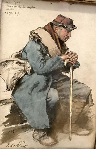 J. LeBlanc,French WWI Portrait of Alphonse Vandecasteele,327 infantry