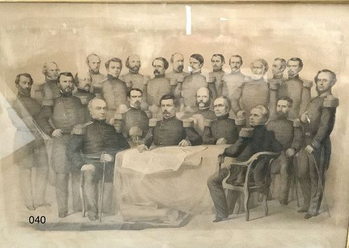 McCullen And The Commanders of The Union Army Framed Engraving