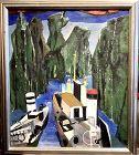 Trieste Born Artist May JANKO �Springtime Fijords Norway, Oil 30x24 in