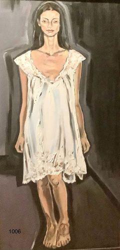 Anne LANE American Master oil on Canvas �Women Series� 48 x 24�