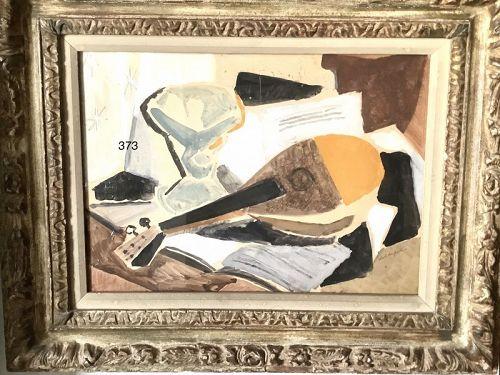 """Karl Schlagaler Austrian Art """"Still Life with Mandolin"""""""