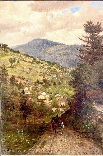 Philadelphia Artist James Brade SWORD 1839-1915  Oil