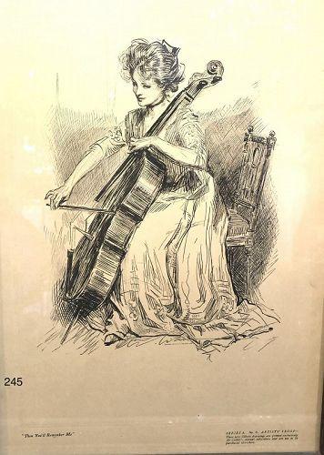 Gibson Girl Artist Charles Dana Gibson, Lithograph 16x11