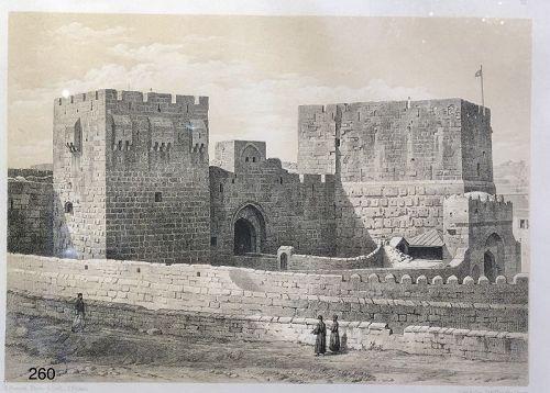 "E. PIEROTH artist signed ""Fortress"" nineteenth Century 9x12"""