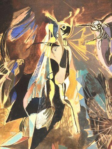 German Artist Kurt Roesch �Dance of the Moths� Large Abstract c1945