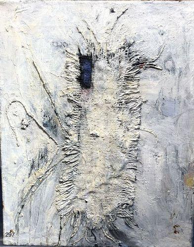 Abstract Mixmedia Masterwork signed Neraze 20x16