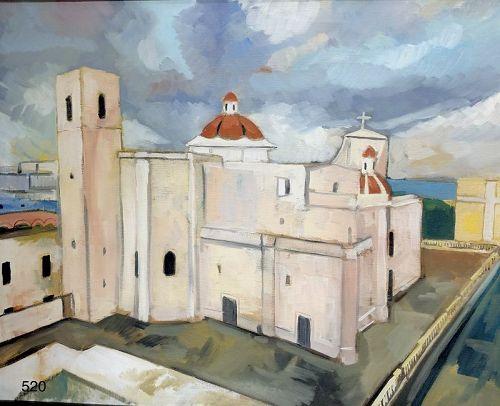 """American Master Paco Lane """"St.John Catherdral,San Juan PR"""""""