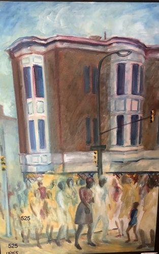 """Jamaica Art Joe James """"Philadelphia"""" oil on canvas 36x24"""""""