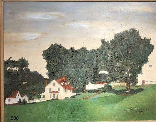 """Springtime Farm"" by Artist Gabel dated 1971"