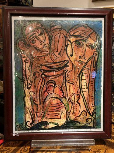 Alexander GORE Russian Abstract Figures acrylic ,