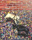 "American Artist Anne Lane ""Love My Dogs"""