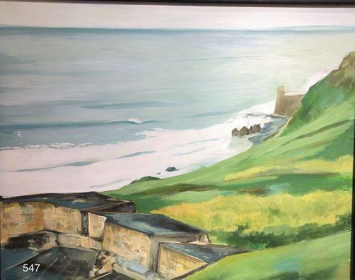 American Master Artist Paco Lane �Seascape of San Juan� Oil