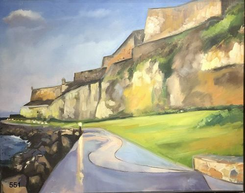 El Morro Castle American Master Paco Lane oil