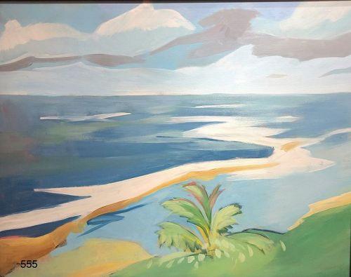 "Paco Lane American Master Artist "" Puerto Rican Seascape"" Oil 24 x 30"""