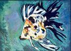 """Angel Fish"" American Artist ANNE LANE Oil 30 x 24"""