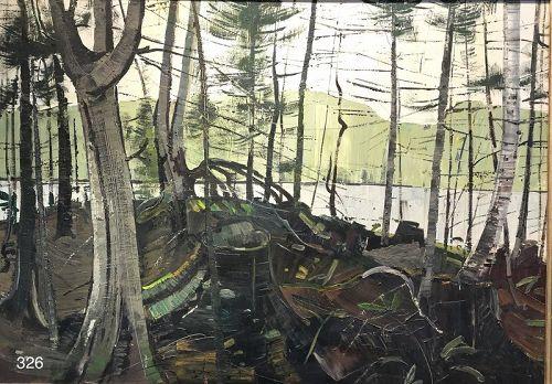 Modernist Landscape Signed Lower Left by Bouchard