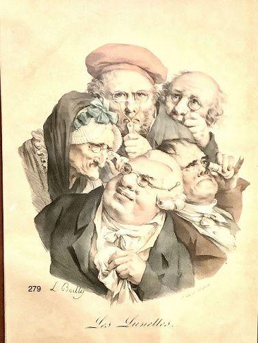 L. Boilly artist �Les Lunetts, delpech print c.1790