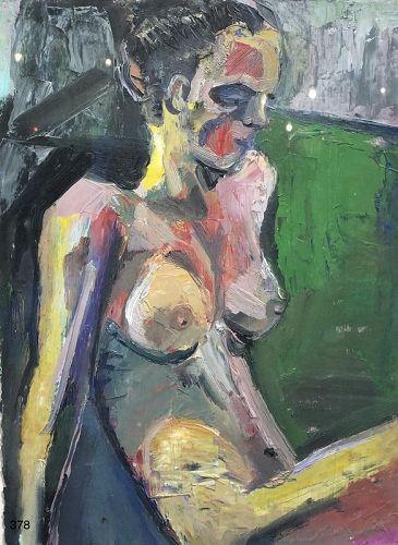Artist Cynthia ERDAHL Nude Figure Oil on paper  15 x 11�