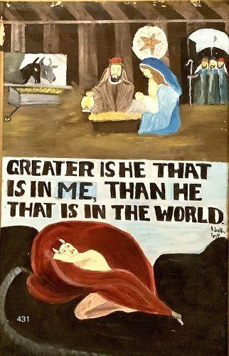 Julian Crump  Biblical Quote Mixmedia Religious