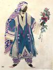 Leon Bakst Ballet Russe �Le Dieu Bleu� Najinsky Watercolor 11x9