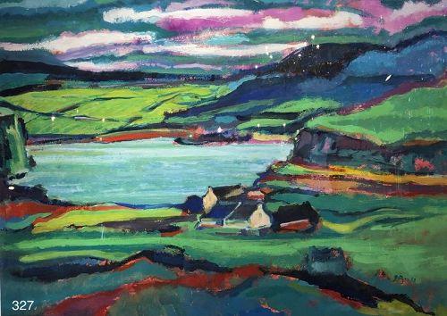 Harbor Landscape by Glenn Pizer 1998