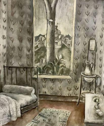 Artist Harold Blanch 1896-1968 Interior Scene Oil 20 x 16�