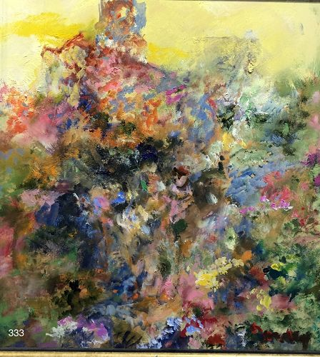 Abstract Expressionist Flowers by Joseph William Dawley