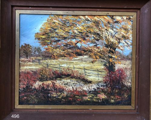 Fall Landscape signed by Cody