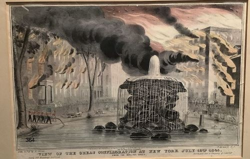 View of the Great Conflagration at New York, July 19th 1845 by N. Curn