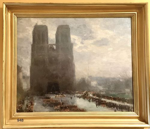 """""""Notre Dame in Mourning"""" by Eugene-Louis Gillot"""
