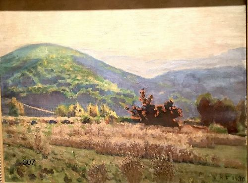 American Artist Robert Francis Californian Landscape Oil 1930 24 x 30�