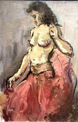 American Artist Alexandra Kay, Semi Nude expressionist oil