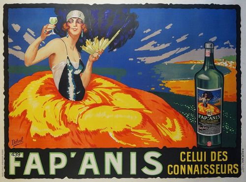 Original 1920s �Fap�Anis� Color Lithograph Poster XL size 46 x 62�