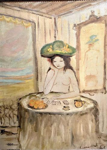 Suzanne Eisendieck German Master Artist 1962 Dated Nude Oil 24 x 18�
