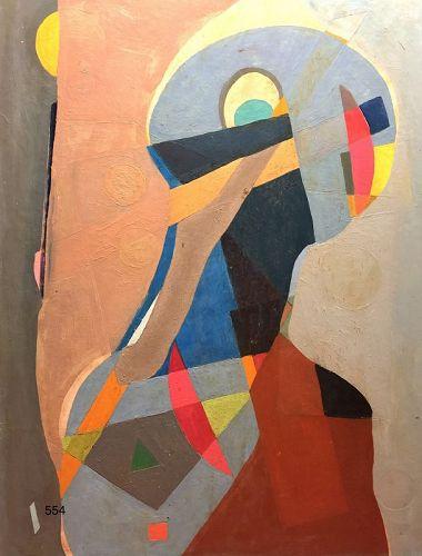 Master Artist Max Kassler Abstract Figure 32x24�