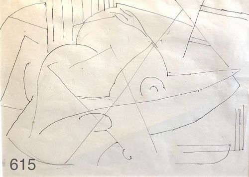 MODERNIST DRAWING BY Arthur Beecher Carles 1882-1952