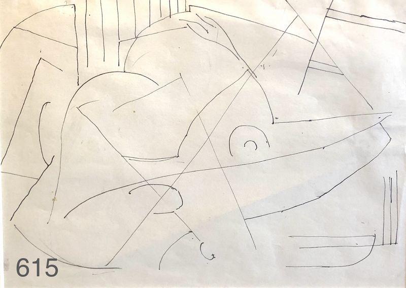 MODERNIST DRAWING BY Arthur Beecher Carles 1882-1952