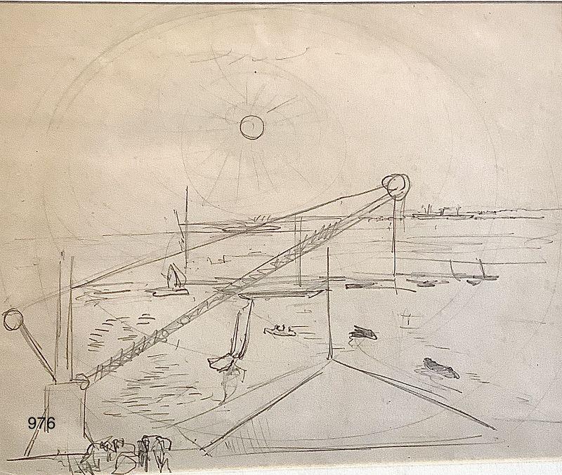 MODERNIST DRAWING BY Arthur Beecher Carles 1882-1952 6x8� Harbor