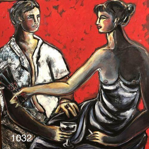 Romantic Couple by Contemporary Artist Anne Lane