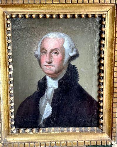 George Washington Obituary Portrait Oil Painting circa 1800