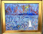 "Key Bridge in Summer By Artist Ron Demetro 26x30"""