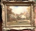 """Robert FENSON British 1889-1937 The Cottage Garden 20x24"""""""