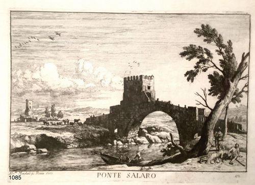 Beautiful Etching from 18th Century �PONTE SALARO �12x9�