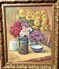 "Viacheslav SADOVOI Still Life floral o/c 20x24""."
