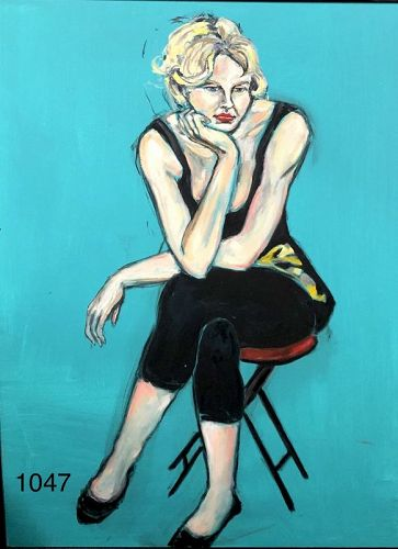 Woman in Teal by Anne Lane