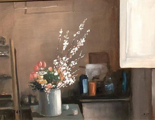 Mario Russo Interior studio oil 16x20�