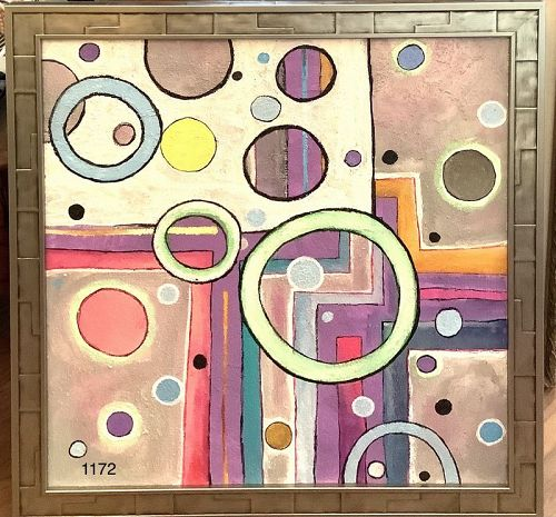 Anne Lane American Master Artist Abstraction Bubbles 24x24�
