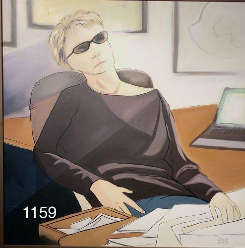 American Master Artist Paco Lane Portrait of Maureen Oil 36x36�